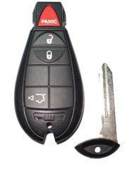 2008 08 Jeep Grand Cherokee Remote & Key Combo   4 Button