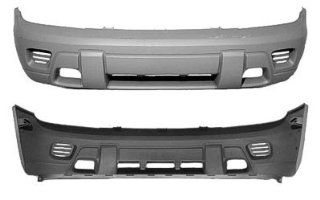 2002 2008 Chevy Trailblazer Front Bumper No Fog Painted 382E Pewter