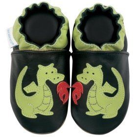 Robeez Dragon Black Soft Sole Baby Shoes 18 24 months Shoes