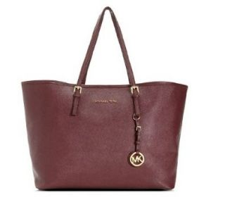 Michael Michael Kors Jet Set Travel Tote Bordeaux Shoes