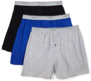 Fruit of the Loom Mens 3 Pack Knit Boxer With Exposed