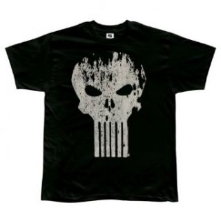 Punisher   Distressed Logo Soft T Shirt   Small Clothing