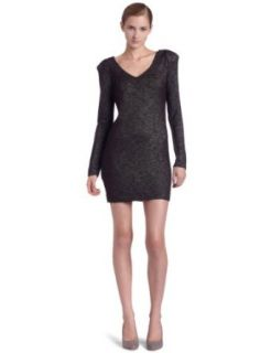 Bcbgeneration womens Long Sleeve Lace Back Dress, Black
