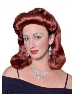 Auburn 40s Pinup Girl Halloween Costume Wig Clothing