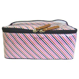 Kate Spade Large Colin Par Avion Stripe Cosmetic Case Shoes