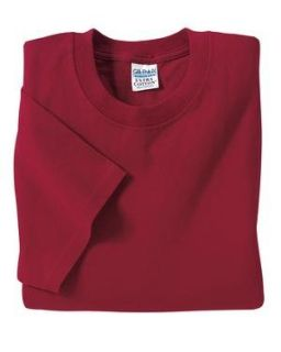 Gildan Ultra Cotton 2000 Adult T Shirt   Cardinal Red