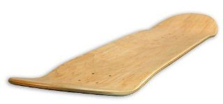 Blank Decks Warning Skateboard Deck (Natural) Sports