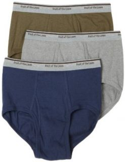Fruit of the Loom Mens Rugged Brief 3 Pack, Loam Heather