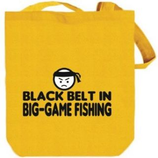 BLACK BELT IN Big Game Fishing Yellow Canvas Tote Bag