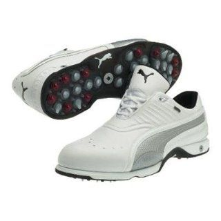 Golf Shoe   White/Black/Puma Silver   184144 01 (10.5 Wide) Shoes