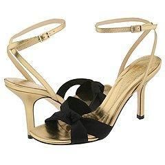 Kate Spade Loupe Black Satin Sandals