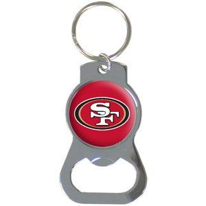San Francisco 49ers Bottle Opener Key Ring   NFL Football