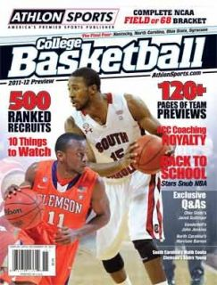 2011 12 Athlon Sports College Basketball Magazine Preview
