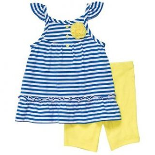 Carters Sleeveless Striped Top and Shorts Set   Blue   6