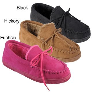 Journee Collection Womens Jewels Faux Suede Moccasin Slippers