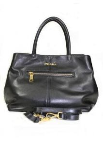 Prada Handbags Black Soft Calf Leather BN1832 Clothing