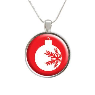 Christmas Tree Ornament Glass Pendant and Necklace