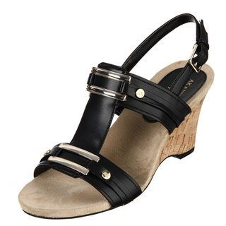 AK Anne Klein Womens Claw Black Wedges