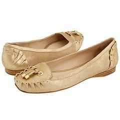Kate Spade Gwenda Gold Powdered Metallic Suede Flats