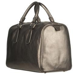Salvatore Ferragamo Metallic Leather Bowler Bag