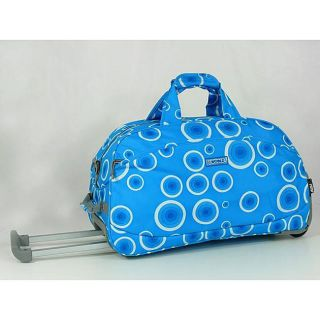 World Blue Bubbles 20 inch Rolling Duffel Bag
