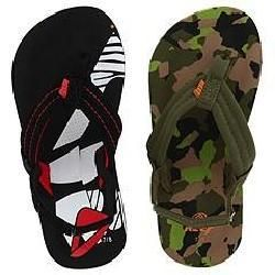 Reef Kids Ahi 2 Pair Variety Pack (Infant/Toddler) Black/Red and Camo