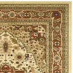 Lyndhurst Collection Ivory/ Rust Rug (8 x 11)