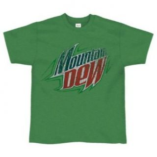 Mountain Dew  Distressed Logo Soft T Shirt   X Large