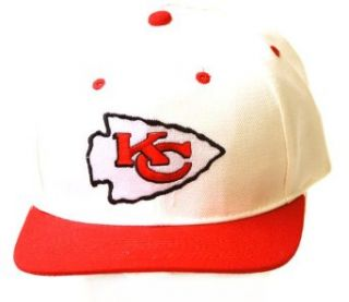 Kansas City Chiefs NFL Adjustable Snapback Hat, White/Red