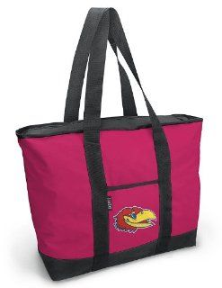 University of Kansas Pink Tote Bag KU Jayhawks Logo   For