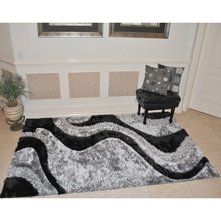 EverRouge 3D Black Area Rug (5 x 8)