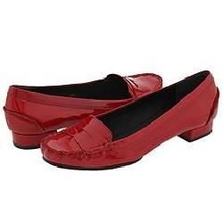 KORS Michael Kors Cabbie Red Soft Patent Loafers     Size 6