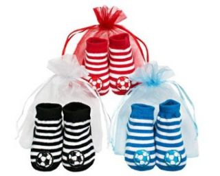 Baby Emporio   3 Pairs Baby Boy Soccer Socks   0 6 Months