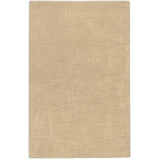 Candice Olson Hand woven Carved Beige Wool Rug (33 x 53)