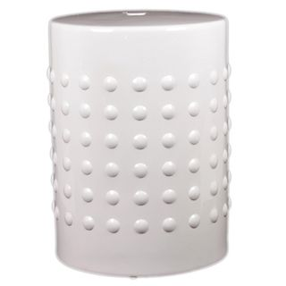 Urban Trends Collection 18 inch White Ceramic Stool