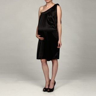 Everly Grey Womens Black Maternity Jane Dress