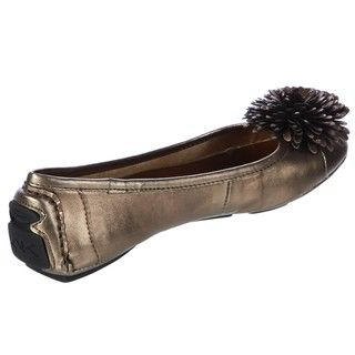 Anne Klein Womens BamBam Brown Flats