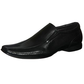 Steve Madden Mens Captrye Black Bike Toe Loafers