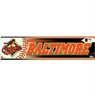 Baltimore Orioles   Logo & Name Bumper Sticker MLB Pro