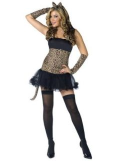 Sexy Cat Costume Animal Costume Leopard Print Mini Dress