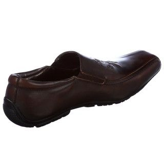 Skechers Backstage Mens Litigate Brown Leather Loafers