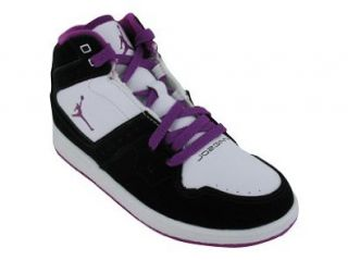 JORDAN 1 FLIGHT GIRLS BASKETBALL SHOES 1 (BLACK/RED PLUM WHITE) Shoes