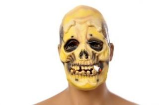 Scary Skeleton with Cigarette Halloween Costume Face Mask