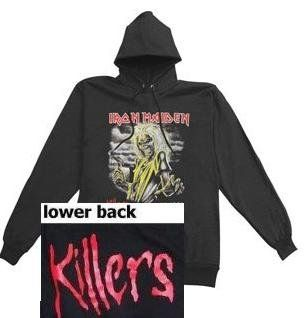 Iron Maiden New Killers Black Pullover Hoodie (Large