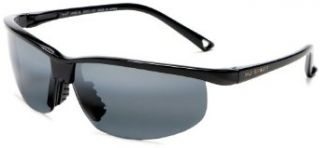 Maui Jim 402 02 Gloss Black Sunset Rimless Sunglasses
