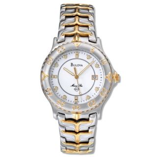 Bulova Mens Marine Star Stainless and Yellow Goldplated Steel