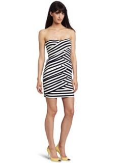 Nicole Miller Womens Strapless Dress Clothing