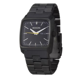 Nixon Mens The Graduate Black Stainless Steel Quartz Watch