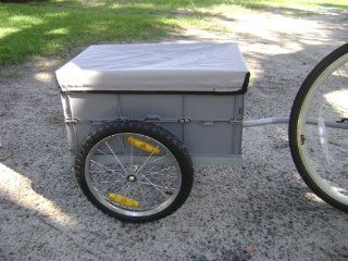 i10Direct Cargo Bicycle Trailer Gray with Removable
