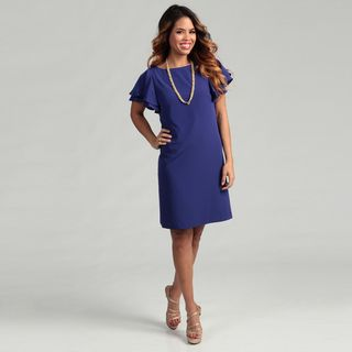 Jessica Howard Womens Flutter sleeve Dress FINAL SALE
